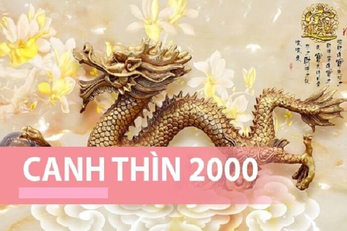 Người sinh năm 2000 tức năm Canh Thìn là tuổi con rồng